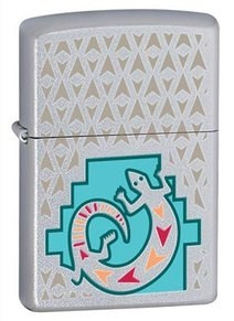 Широкая зажигалка Zippo Painted Lizard 24455 - фото 5572