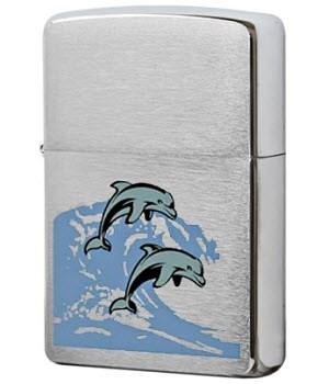 Широкая зажигалка Zippo SV-Dolphins 24501 - фото 5598