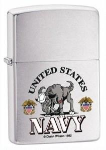 Широкая зажигалка Zippo US Navy 24533 - фото 5612