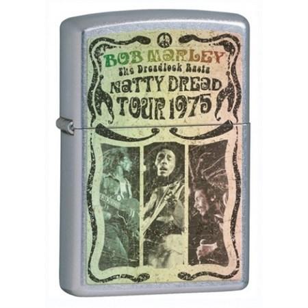Широкая зажигалка Zippo Bob Marley 24990 - фото 5690