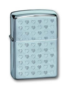 Широкая зажигалка Zippo Multi Heart 284 - фото 5758