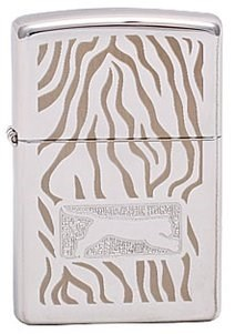 Широкая зажигалка Zippo Tiger Skin 299 - фото 5788