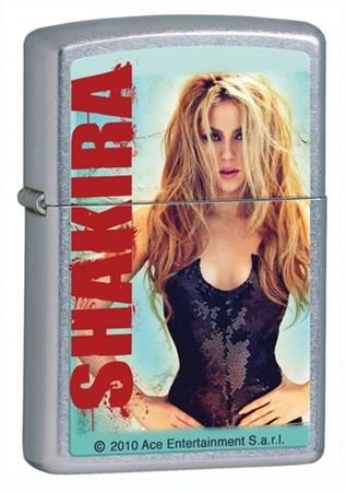 Широкая зажигалка Zippo Shakira 28029 - фото 5848