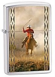 Широкая зажигалка Zippo Cowboy 28284 - фото 5896