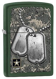 Широкая зажигалка Zippo US Army 28513 - фото 5942
