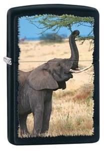 Широкая зажигалка Zippo Elephant 28666 - фото 5986