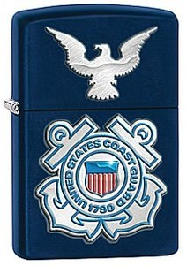 Широкая зажигалка Zippo USCG 28681 - фото 5988
