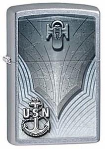 Широкая зажигалка Zippo US Navy 28682 - фото 5990