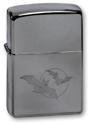 Широкая зажигалка Zippo BATS/MOON 150 - фото 6047