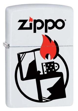 Широкая зажигалка Zippo Classic 29194 - фото 6055