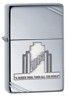 Широкая зажигалка Zippo A Weeks Trial vintage AC 28451 - фото 6057