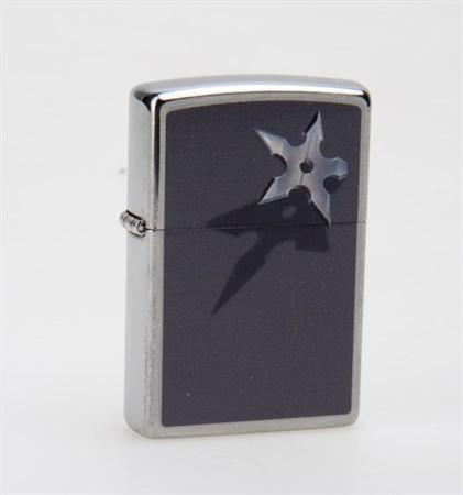 Широкая зажигалка Zippo BS Star 28030 - фото 6061