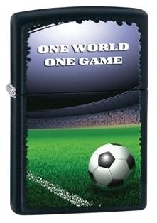 Широкая зажигалка Zippo One World One Game 28301 - фото 6096