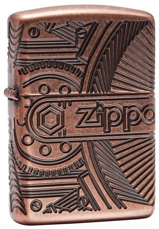 Широкая зажигалка Zippo Armor 29523 - фото 6139