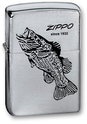 Широкая зажигалка Zippo BLACK BASS 200 - фото 6164