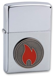 Широкая зажигалка Zippo Flame 24055 - фото 6383