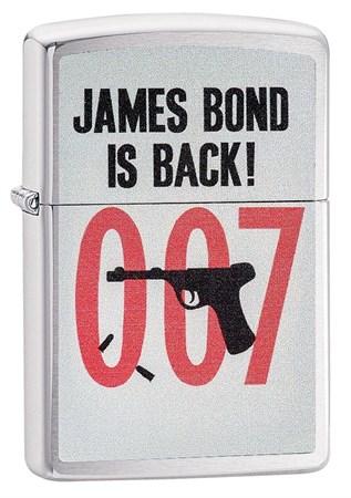 Широкая зажигалка Zippo James Bond 29563 - фото 6409