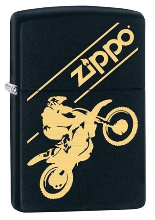 Широкая зажигалка Zippo Moto Cross 29528 - фото 6427