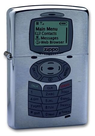Широкая зажигалка Zippo Phone 200 - фото 6440