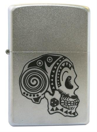 Широкая зажигалка Zippo Tattoo Skull 205 - фото 6496