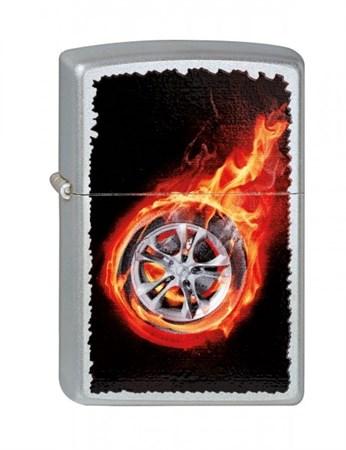 Широкая зажигалка Zippo Tire On Fire 205 - фото 6504