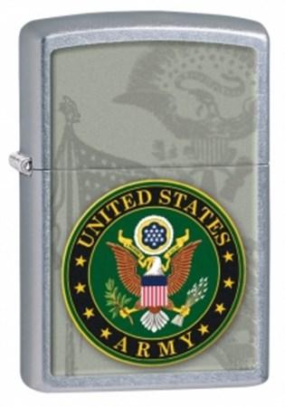 Широкая зажигалка Zippo US Army 28632 - фото 6511