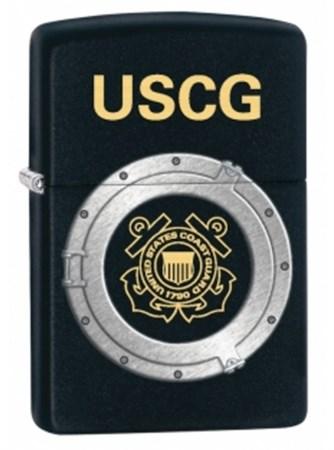 Широкая зажигалка Zippo USCG 28623 - фото 6514
