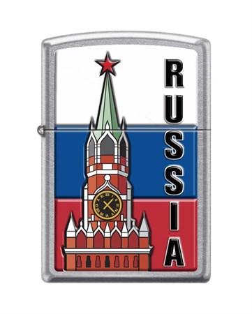 Широкая зажигалка Zippo KREMLIN FLAG RUSSIA 207 - фото 6557