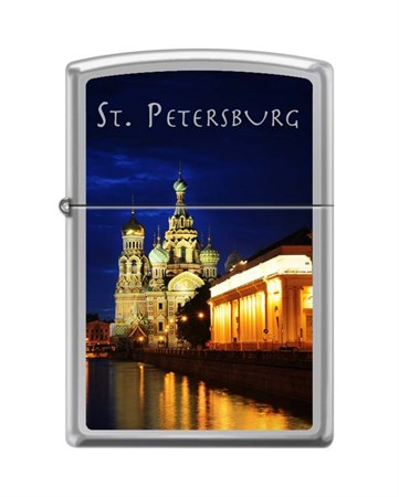 Широкая зажигалка Zippo ST PETERSBURG CHURCH 250 - фото 6581