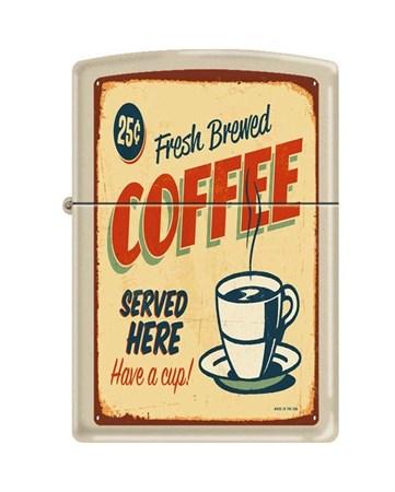 Широкая зажигалка Zippo COFFEE VINTAGE 216 - фото 6582