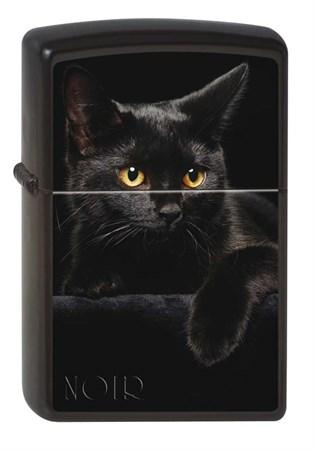 Широкая зажигалка Zippo CAT 218 - фото 6583