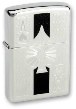 Широкая зажигалка Zippo Zippo Ace 24196 - фото 6691