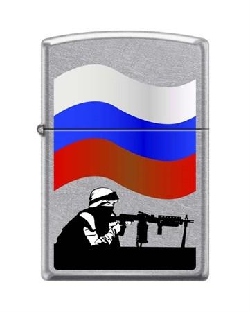 Широкая зажигалка Zippo Защитник Отечества 207 Russian Soldier - фото 6692