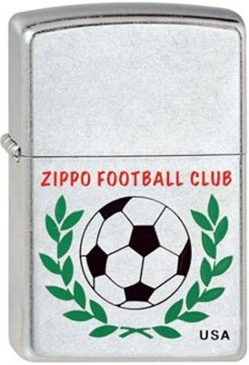 Широкая зажигалка Zippo Football Club 207 - фото 6731