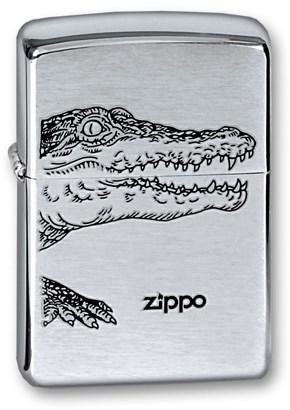 Широкая зажигалка Zippo Alligator 200 - фото 6750