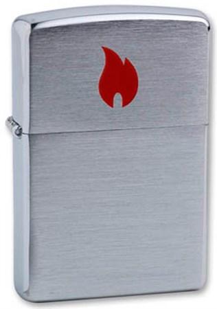 Широкая зажигалка Zippo Red Flame 200 - фото 6754