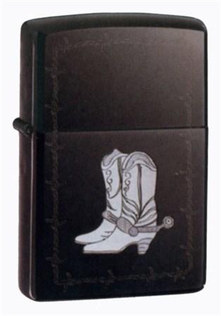 Зажигалка широкая Zippo Silver Boots 20280 - фото 6897