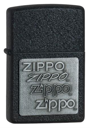 Широкая зажигалка Zippo Pewtter Black Crackle™ 363 - фото 7130