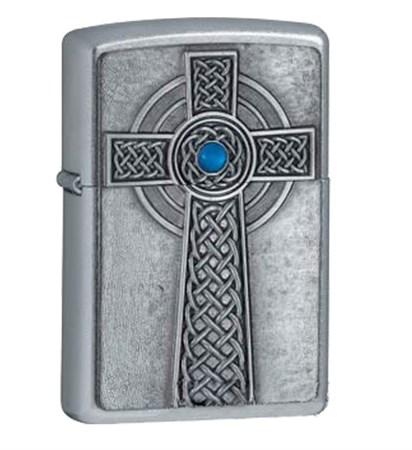 Зажигалка широкая Zippo Celtic Cross 20776 - фото 7247