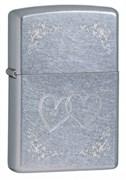 Широкая зажигалка Zippo Heart To Heart 24016
