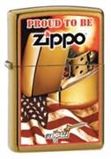 Широкая зажигалка Zippo Mazzi Zippo Flag 24746