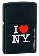 Широкая зажигалка Zippo I Love NY 24798