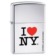 Широкая зажигалка Zippo I Love NY 24799