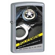 Широкая зажигалка Zippo Police Badge Handcuff 28279