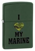 Широкая зажигалка Zippo Marines 28338