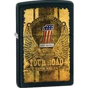 Широкая зажигалка Zippo Your Road Zippo 28350