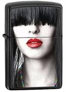 Широкая зажигалка Zippo Woman Red Lips 28536