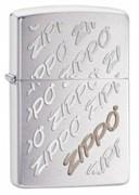 Широкая зажигалка Zippo Repeating Logo 28642