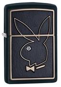 Широкая зажигалка Zippo Playboy Swarovski 28816