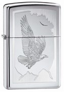 Широкая зажигалка Zippo Birds Of Prey 21069